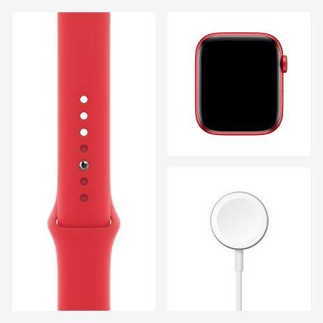 Apple Watch Serie 6 GPS, 44mm in alluminio PRODUCT(RED) con cinturino Sport PRODUCT(RED) - 4