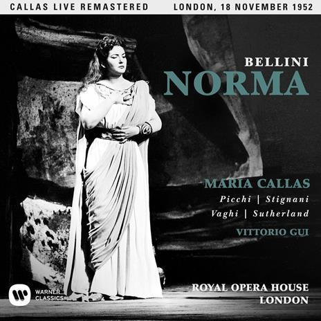 Norma. Londra 18 novembre 1952 (Callas Live Remastered) - CD Audio di Vincenzo Bellini,Maria Callas,Mirto Picchi,Vittorio Gui