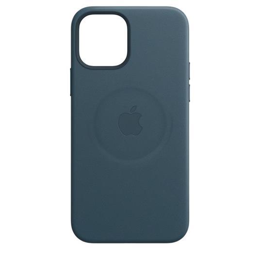 Apple Custodia MagSafe in pelle per iPhone 12 | 12 Pro - Blu Baltico - 7