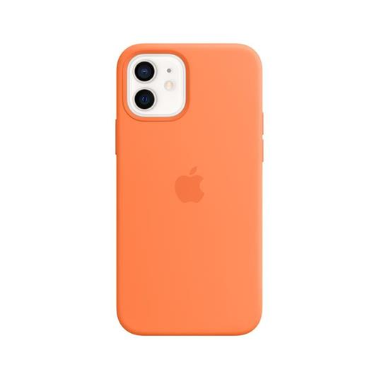 Apple Custodia MagSafe in silicone per iPhone 12 | 12 Pro - Kumquat