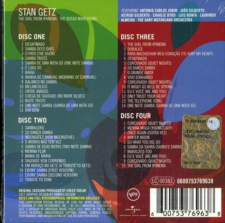 The Girl from Ipanema (Box Set) - CD Audio di Stan Getz - 2