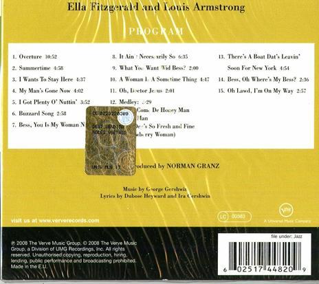 Porgy & Bess - CD Audio di Louis Armstrong,Ella Fitzgerald - 2