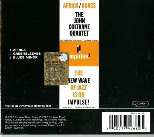 Africa / Brass - CD Audio di John Coltrane - 3