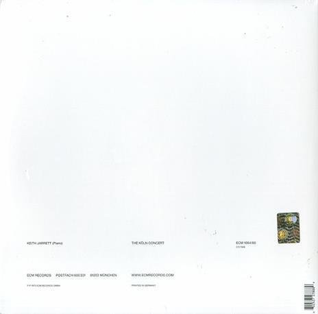 The Köln Concert - Vinile LP di Keith Jarrett - 2