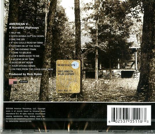 American V. A Hundred Highways - CD Audio di Johnny Cash - 2