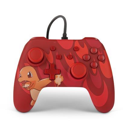 PowerA Charmander Blaze Gamepad Nintendo Switch Analogico/Digitale USB Multicolore, Rosso