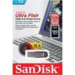 Pendrive Sandisk Ultra Flair USB 3.0 128Gb Funzione Protezione Dati Col