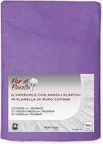 Lenzuolo Con Angoli In Flanella Fior Di Flanella Lilla Viola 1 Piazza E Mezza