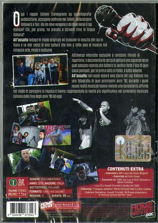 All'assalto. Le radici del rap italiano (DVD) di Paolo Fazzini - DVD - 2