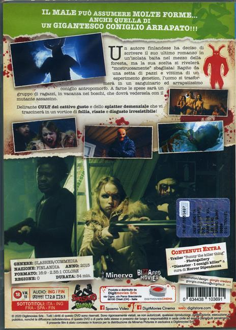 Bunny the Killer Thing (DVD) di Joonas Makkonen - DVD - 2