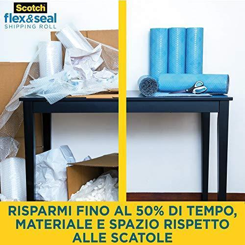 Scotch Flex & Seal, Rotolo per spedizioni, 38 cm x 6 m, Un'alternativa efficiente a scatole di cartone, sacchetti in polietilene per corrieri, borse da spedizione e buste imbottite - 2