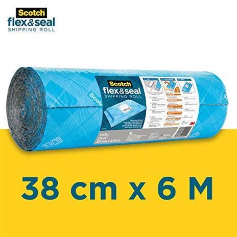 Scotch Flex & Seal, Rotolo per spedizioni, 38 cm x 6 m, Un'alternativa efficiente a scatole di cartone, sacchetti in polietilene per corrieri, borse da spedizione e buste imbottite - 3
