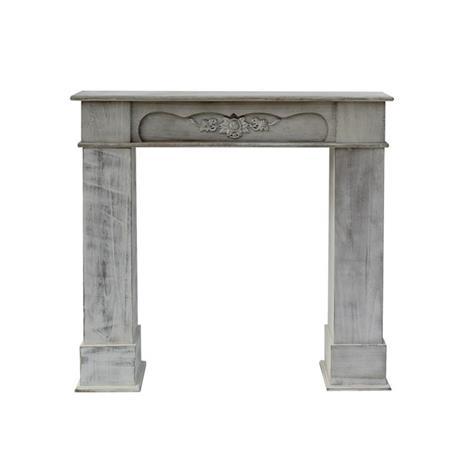 Mobili Rebecca® Cornice Decorativa Caminetto Legno Bianco Stile Classico Salotto - 4