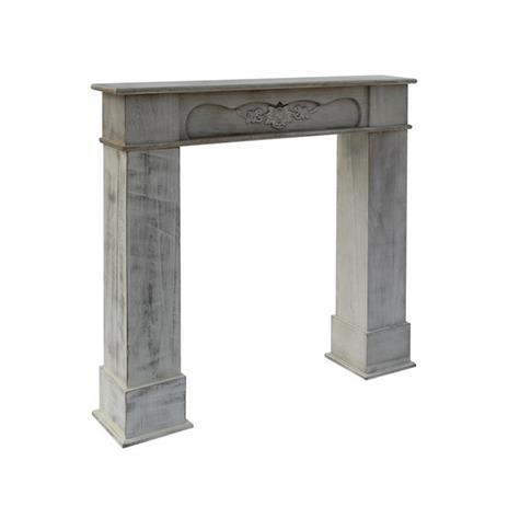 Mobili Rebecca® Cornice Decorativa Caminetto Legno Bianco Stile Classico Salotto - 5