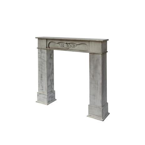 Mobili Rebecca® Cornice Decorativa Caminetto Legno Bianco Stile Classico Salotto - 7