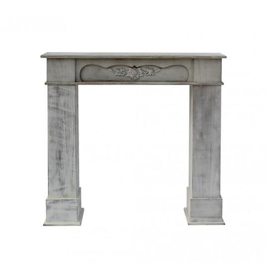 Mobili Rebecca® Cornice Decorativa Caminetto Legno Bianco Stile Classico Salotto