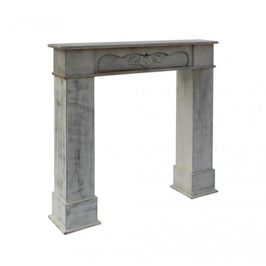 Mobili Rebecca® Cornice Decorativa Caminetto Legno Bianco Stile Classico Salotto - 6