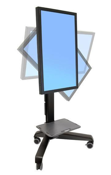 Ergotron Neo-Flex Mobile MediaCenter UHD Carrello multimediale Nero Pannello piatto - 2