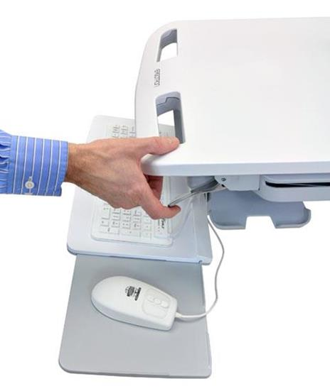 Ergotron StyleView Cart Carrello multimediale Bianco Computer portatile