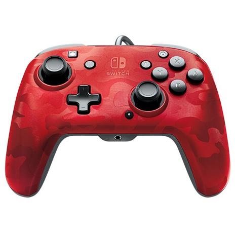 PDP Faceoff Deluxe+ Audio Gamepad Nintendo Switch Analogico/Digitale USB Nero, Rosso