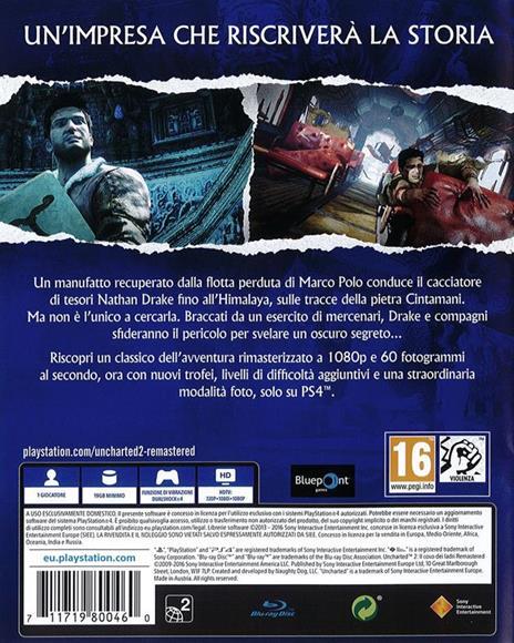 Uncharted 2:Il Covo dei Ladri Remastered - PS4 - 3