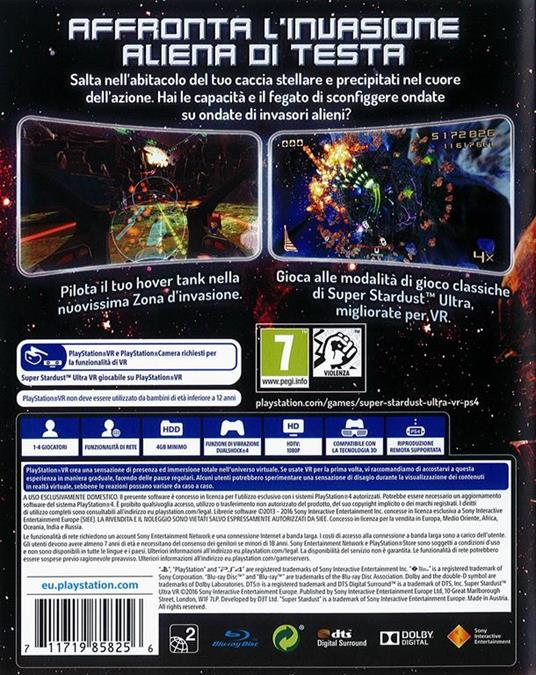 Sony Super Stardust Ultra VR, PlayStation VR PlayStation 4 Basic Inglese, ITA - 3