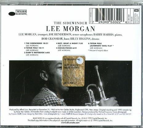 The Sidewinder (Rudy Van Gelder) - CD Audio di Lee Morgan - 2