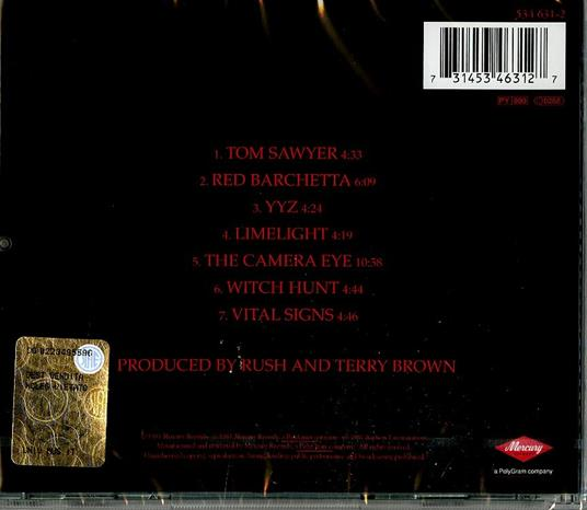 Moving Pictures (Remastered) - CD Audio di Rush - 2