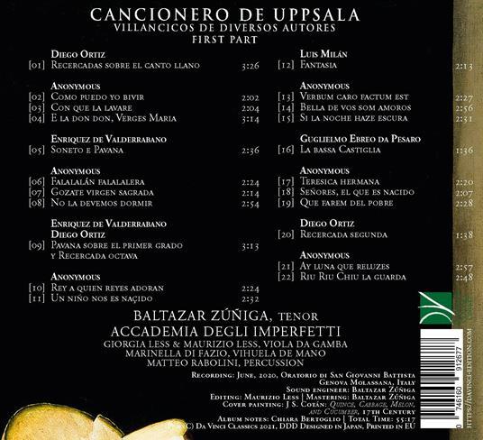 Humanos y Divinos. Cancionero de Upsala: Villancicos de diversos autores - CD Audio di Baltazar Zuniga - 2