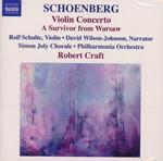 Concerto per violino - Un sopravvissuto di Varsavia - Preludio alla Genesi - Ode a Napoleone - De Pre Profundis