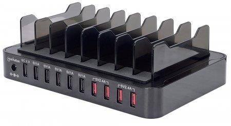 Manhattan 180009 Caricabatterie per dispositivi mobili Nero Interno