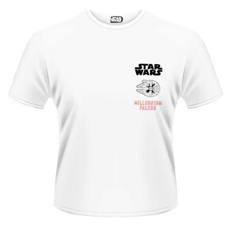 T-Shirt unisex Star Wars The Force Awakens. Millenium Falcon Approaching Rear