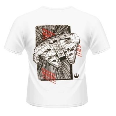 T-Shirt unisex Star Wars The Force Awakens. Millenium Falcon Approaching Rear - 2