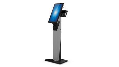 """Elo Touch Solution E797162 base da pavimento per tv a schermo piatto 55,9 cm (22"""") Supporto fisso da pavimento a pannello piatto Nero, Argento"""