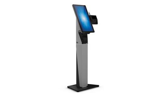 """Elo Touch Solution E797162 base da pavimento per tv a schermo piatto 55,9 cm (22"""") Supporto fisso da pavimento a pannello piatto Nero, Argento - 2"""