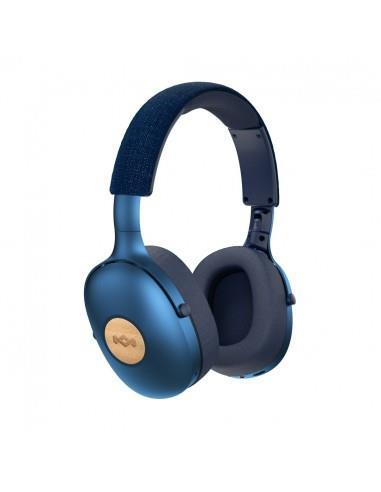 The House Of Marley Positive Vibration XL Cuffia Padiglione auricolare Blu Bluetooth USB tipo-C