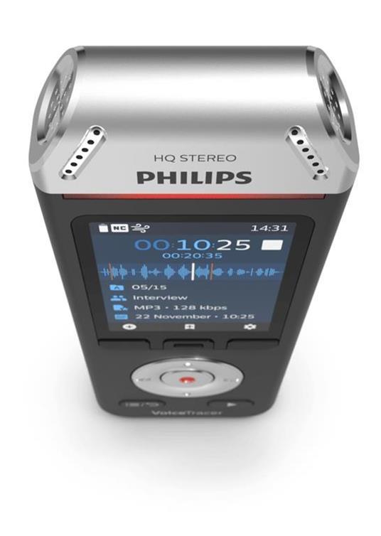 Philips Voice Tracer DVT2110/00 dittafono Flash card Nero, Cromo - 2