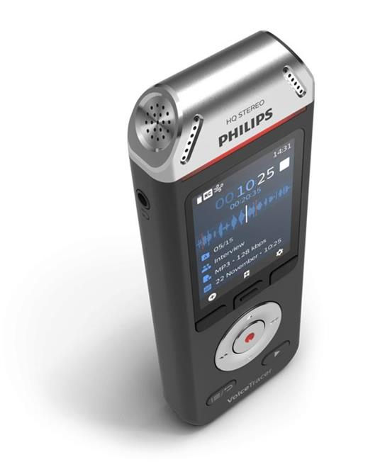 Philips Voice Tracer DVT2110/00 dittafono Flash card Nero, Cromo - 3