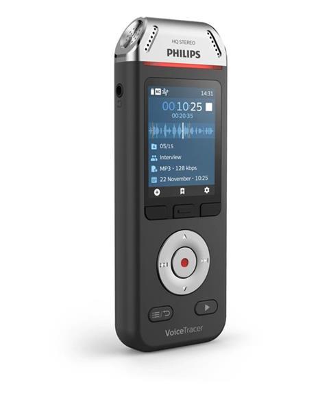 Philips Voice Tracer DVT2110/00 dittafono Flash card Nero, Cromo - 6