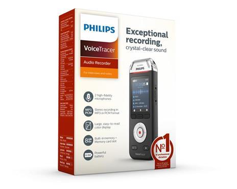 Philips Voice Tracer DVT2110/00 dittafono Flash card Nero, Cromo - 8