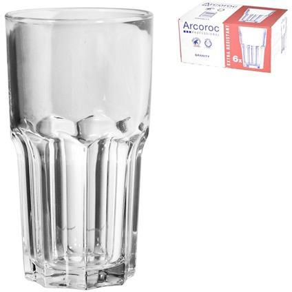 ARC Confezione 6 Bicchieri In Vetro Trasparente Granity Cl 46