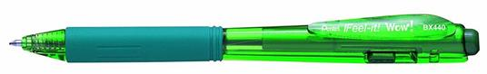 Pentel Feel-it! WOW! Verde Clip-on retractable ballpoint pen 12 pezzo(i)