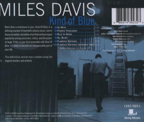 Kind of Blue - CD Audio di Miles Davis - 3