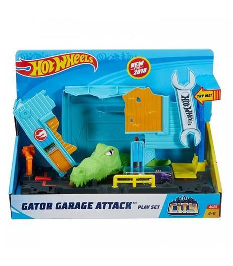 Hot Wheels Garage Dell'Alligatore. Pista per Macchinine a Tema Città