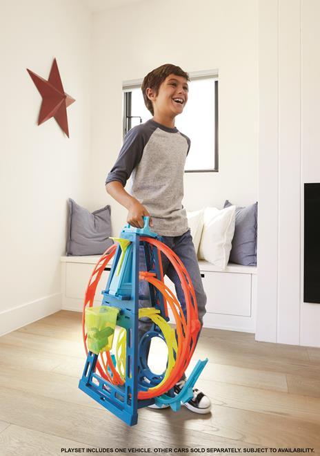 Hot Wheels Track Builder, Playset Pista Triple Loop, Giocattolo per Bambini 4+ Anni. Mattel (GLC96) - 2
