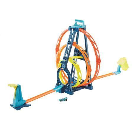 Hot Wheels Track Builder, Playset Pista Triple Loop, Giocattolo per Bambini 4+ Anni. Mattel (GLC96) - 4