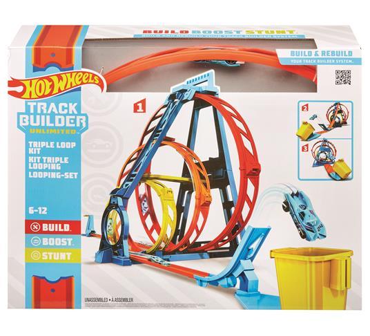 Hot Wheels Track Builder, Playset Pista Triple Loop, Giocattolo per Bambini 4+ Anni. Mattel (GLC96) - 5