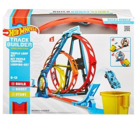 Hot Wheels Track Builder, Playset Pista Triple Loop, Giocattolo per Bambini 4+ Anni. Mattel (GLC96) - 6