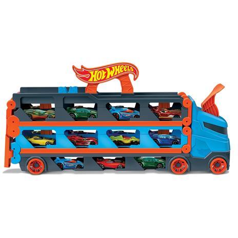 Hot Wheels 2in1 Camion Trasportatore e Pista con 3 Macchinine,Giocattolo per Bambini 4+Anni. Mattel (GVG37) - 2