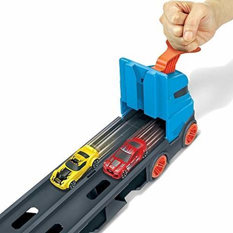 Hot Wheels 2in1 Camion Trasportatore e Pista con 3 Macchinine,Giocattolo per Bambini 4+Anni. Mattel (GVG37) - 6